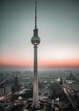 Fernsehkontrollturm, Berlin Stockbild