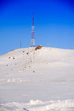 Fernsehkontrollturm im Winter Lizenzfreies Stockfoto