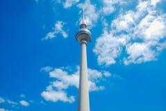 Fernsehkontrollturm von Berlin stockfotografie