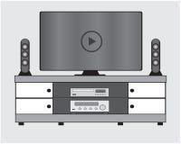 Fernsehmöbel zu Hause lizenzfreie abbildung