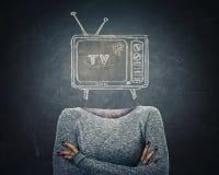 Fernsehmanipulation stockfoto