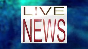 Fernsehnachrichten-Öffnungs-Grafik stock footage