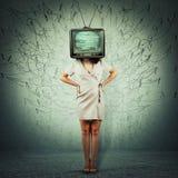 Fernsehpropaganda lizenzfreies stockfoto