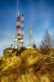 Fernsehrelais- und -wetterstation, Cozia lizenzfreie stockbilder