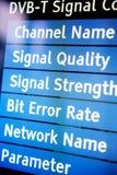 Fernsehsignalmenü Lizenzfreies Stockfoto