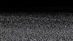 Fernsehstörgeräusch und ein schwarzer Schirm zu der Zeit der Kanaldurchschaltung, Schwarzes, weiß stock video