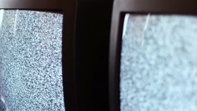 Fernsehstörgeräuschschwarzweiß stock footage