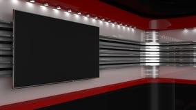 Fernsehstudio Hintergrund für Fernsehshows Fernsehapparat auf Wand Nachrichten-Studio vektor abbildung