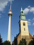 Fernsehturm 8 - Two Towers Stock Photography