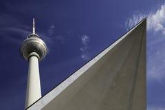 Fernsehturm in Alexander Platz, Berlin Stockbild