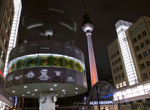 Fernsehturm alexanderplatz clock. The Fernsehturm and alexanderplatz clock Stock Photography