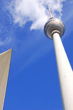 Fernsehturm, Berlin. The TV Tower located on the Alexanderplatz in Berlin, Germany Royalty Free Stock Images