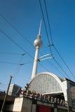 Fernsehturm Berlin. The Fernsehturm (English: television tower) is a television tower in the city centre of Berlin, Germany. Close to Alexanderplatz Stock Image