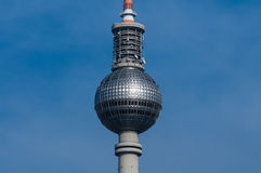 Fernsehturm Berlin. Close to Alexanderplatz in Mitte, the tower was constructed between 1965 and 1969 by the administration of the German Democratic Republic. It Royalty Free Stock Photography