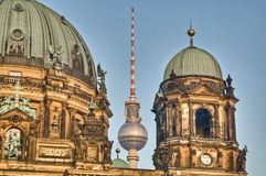 Fernsehturm in Berlin, Germany. Fernsehturm (Television Tower) located at Alexanderplatz in Berlin, Germany Stock Photo