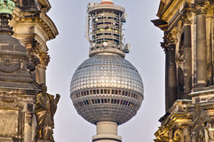 Fernsehturm in Berlin, Germany. Fernsehturm (Television Tower) located at Alexanderplatz in Berlin, Germany Royalty Free Stock Photos