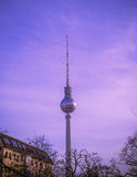 Fernsehturm in Berlin, Germany. View of the Fernsehturm Television Tower located at Alexanderplatz in Berlin, Germany Stock Photos