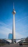 Fernsehturm in Berlin, Germany. View of the Fernsehturm Television Tower located at Alexanderplatz in Berlin, Germany Stock Photography