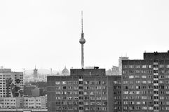 Fernsehturm in Berlin. I took this picture of the Fernsehturm in Berlin Lichtenberg Royalty Free Stock Image