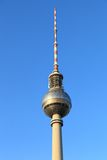 Fernsehturm, Berlin. The iconic Fernsehturm towers over central Berlin Stock Photo