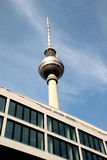 Fernsehturm Berlin TV Tower. The Fernsehturm (English: Berlin TV Tower) is a television tower in central Berlin, Germany Stock Photo