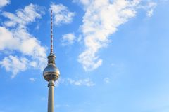 Fernsehturm TV tower - Berlin - Germany stock photography