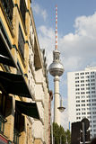 Fernsehturm Berlin. View on the Fernsehturm of Berlin Royalty Free Stock Images