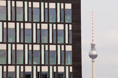 Fernsehturm a Berlino fotografia stock libera da diritti