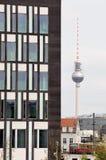 Fernsehturm a Berlino Immagini Stock Libere da Diritti