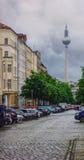 Fernsehturm da torre da tevê de Berlim Imagens de Stock Royalty Free