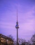 Fernsehturm em Berlim, Alemanha Fotos de Stock