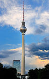 Fernsehturm during Sunset. The television tower in Berlin photographed during sunset Stock Photography