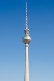 Fernsehturm - televisietoren in Berlijn Stock Foto