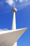 Fernsehturm (Television Tower). Located at Alexanderplatz in Berlin, Germany.The tower was constructed between 1965 and 1969 by the former German Democratic Stock Photos