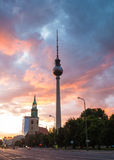 Fernsehturm television tower, Berlin, Germany Royalty Free Stock Image