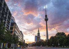 Fernsehturm television tower, Berlin, Germany Stock Photography