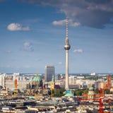 Fernsehturm television tower, Berlin views, Germany Stock Photo