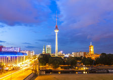 Fernsehturm television tower, Berlin views, Germany Royalty Free Stock Photo