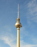 The Fernsehturm is a television tower close to Alexanderplatz square in Berlin-Mitte, Berlin, Germany.  Stock Photos