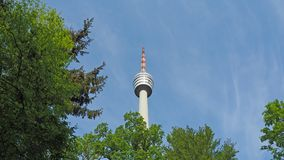 The Fernsehturm television tower in Stuttgart Germany. During a wonderful day royalty free stock photos