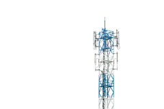 Fernsehturm in Thailand lokalisierte auf Weiß Stockbild