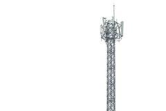 Fernsehturm in Thailand lokalisierte auf Weiß Stockfoto