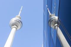Fernsehturm tower. A view of Fernsehhturm tower in Berlinn Royalty Free Stock Photos