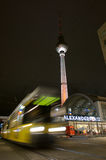 Fernsehturm and tram at alexanderplatz Royalty Free Stock Photography