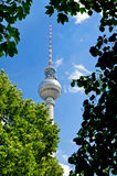 Fernsehturm (TV-torretta) a Berlino Immagine Stock
