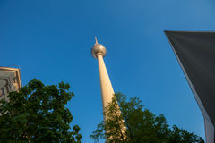 Fernsehturm (TV Tower), Berlin Alexanderplatz Royalty Free Stock Photography