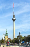 The Fernsehturm (TV Tower) in Berlin, Germany Stock Photo