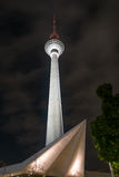 Fernsehturm TV Tower Panoramastrasse 1A, Berlin. This tall tower was built in 1965-69 under the previous East German GDR regime. It is 365 metres 1198feet high Stock Photos