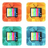 Fernsehvektorikone Stockfotografie