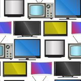 Fernsehvektorschirm lcd-Monitor und Notizbuch, Tablet-Computer, Retro- Schablonen Fernsehen der elektronischen Geräte sortiert in lizenzfreie abbildung